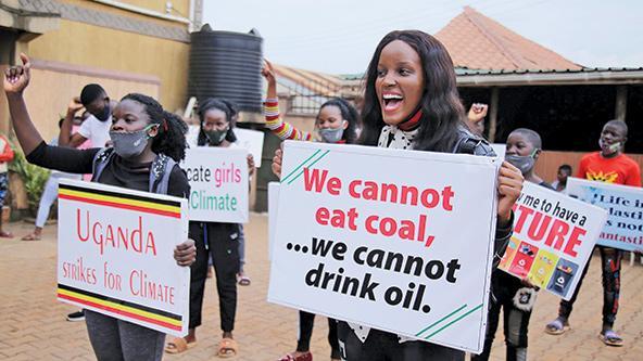 La activista climática de África